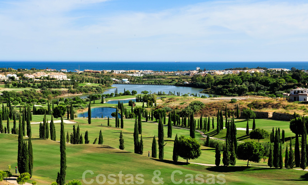 Modern luxury first line golf apartments with stunning golf and sea views for sale in Marbella – Benahavis 24077