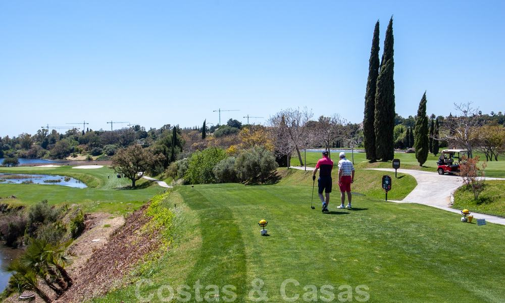 Modern luxury first line golf apartments with stunning golf and sea views for sale in Marbella – Benahavis 24083