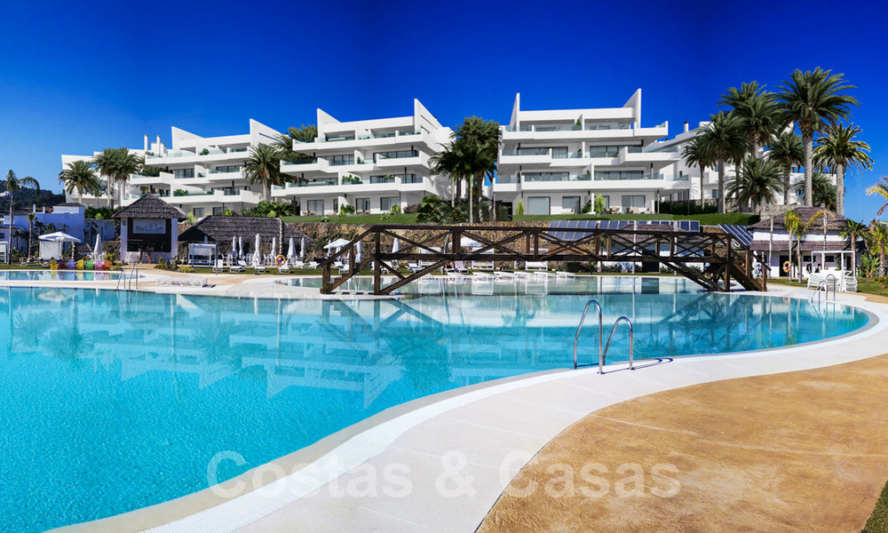 Elegant new modern apartments with panoramic mountain- and sea views for sale in the hills of Estepona 24391