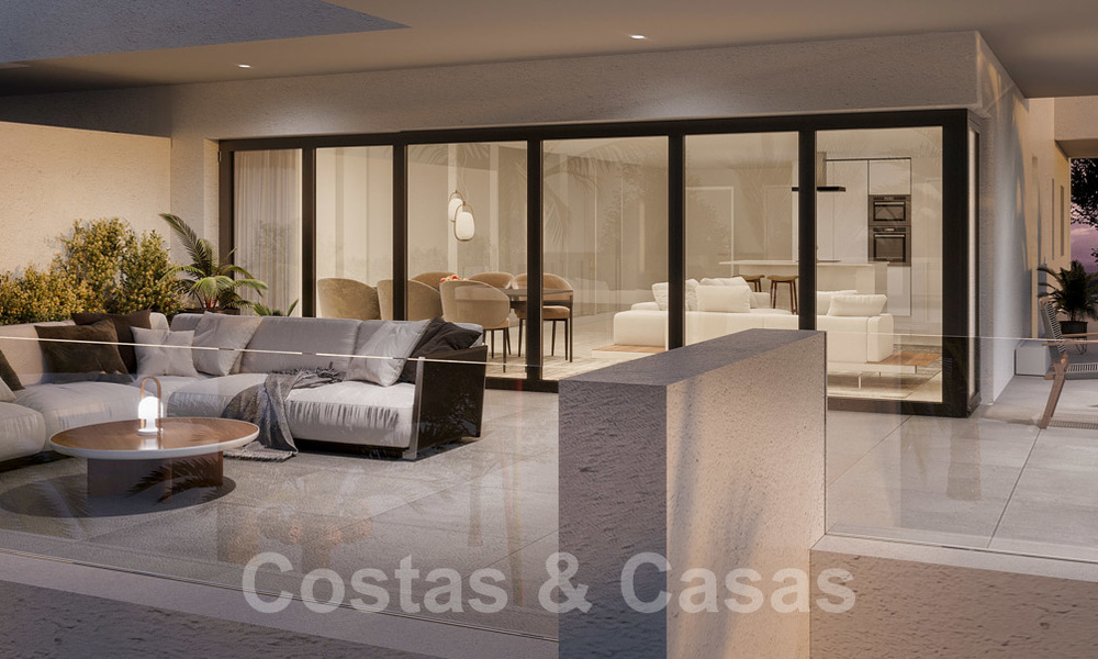 Elegant new modern apartments with panoramic mountain- and sea views for sale in the hills of Estepona 24393