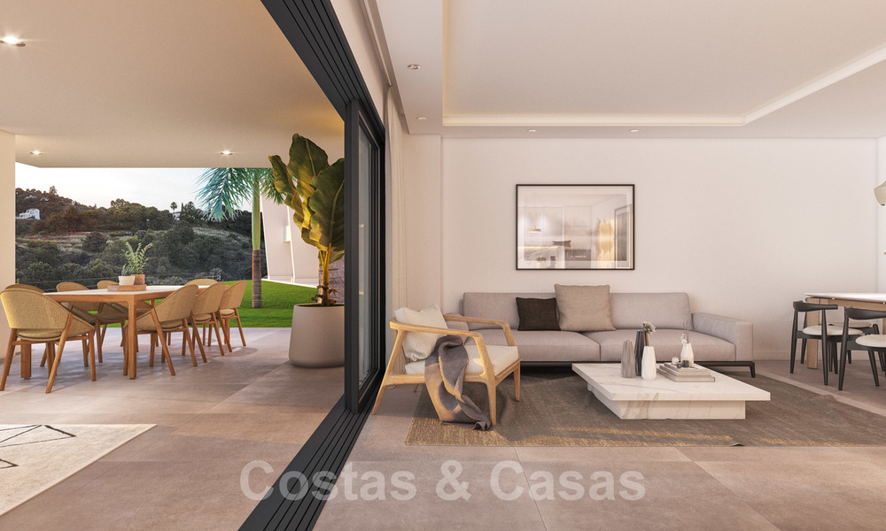 Elegant new modern apartments with panoramic mountain- and sea views for sale in the hills of Estepona 27718