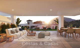 Elegant new modern apartments with panoramic mountain- and sea views for sale in the hills of Estepona 27720