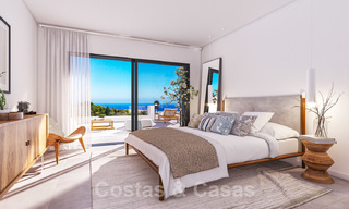 Elegant new modern apartments with panoramic mountain- and sea views for sale in the hills of Estepona 27722