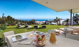 Elegant new modern apartments with panoramic mountain- and sea views for sale in the hills of Estepona 27723