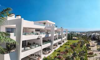 Elegant new modern apartments with panoramic mountain- and sea views for sale in the hills of Estepona 27724