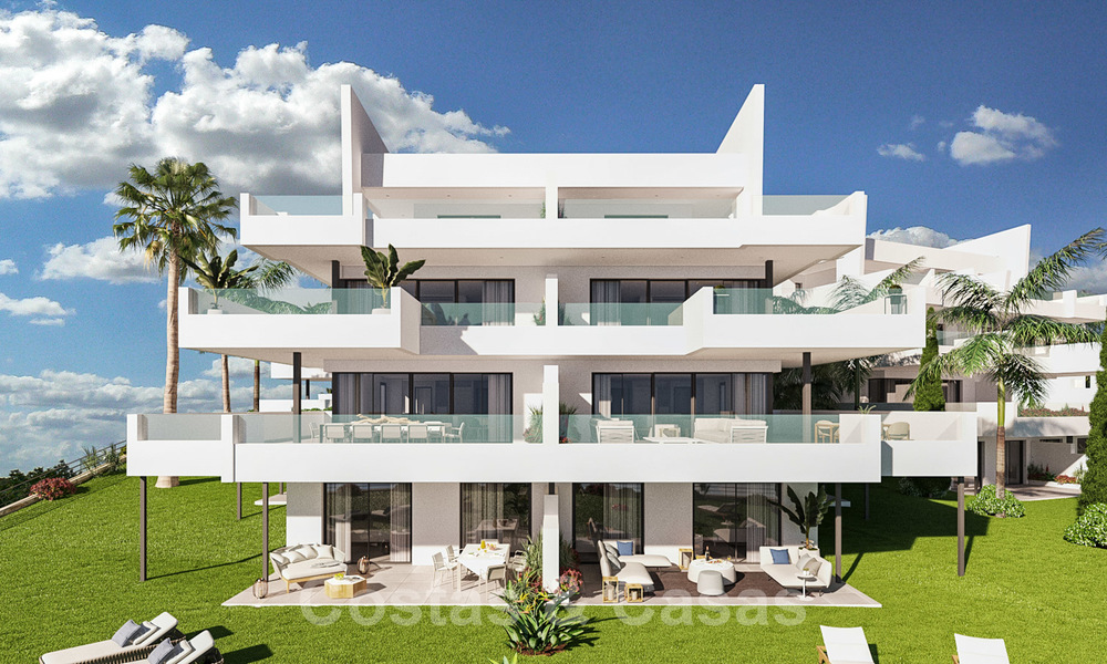 Elegant new modern apartments with panoramic mountain- and sea views for sale in the hills of Estepona 27725