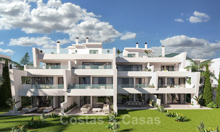 Elegant new modern apartments with panoramic mountain- and sea views for sale in the hills of Estepona 27726