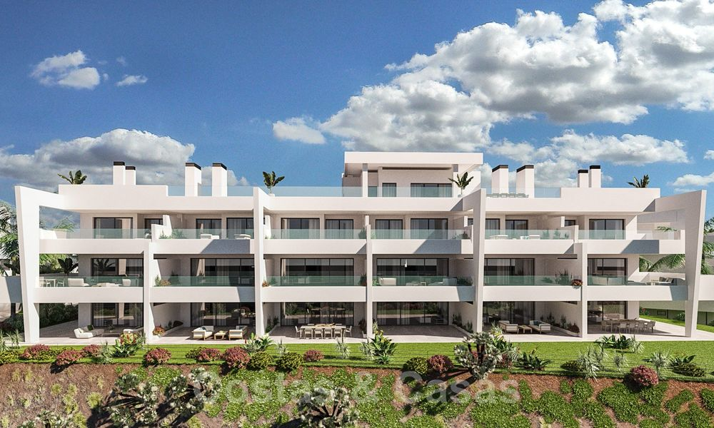 Elegant new modern apartments with panoramic mountain- and sea views for sale in the hills of Estepona 27727