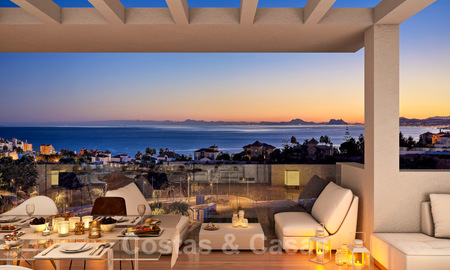 Quality, contemporary design apartments for sale with panoramic sea views in Estepona 24362