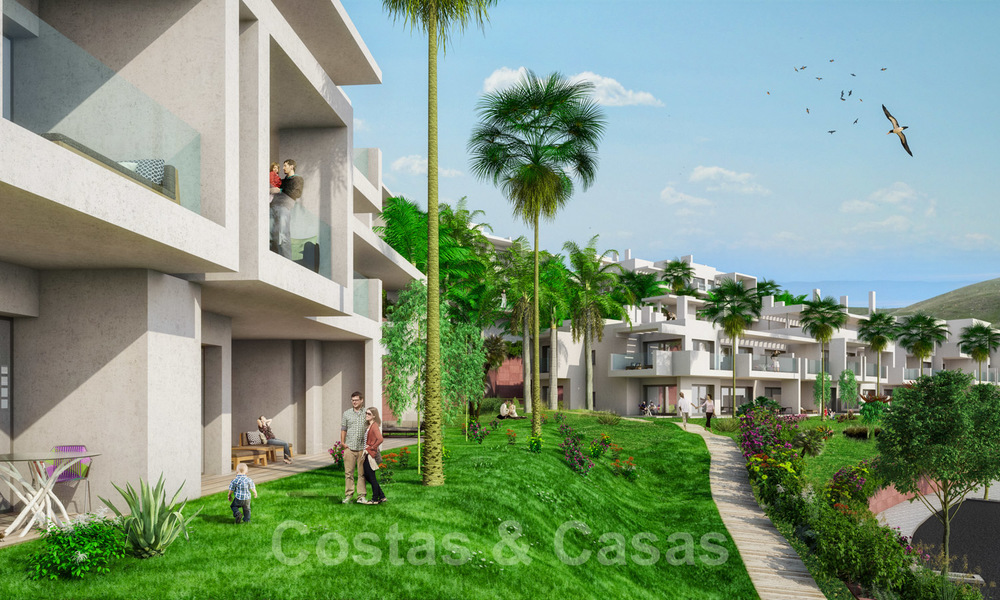 Quality, contemporary design apartments for sale with panoramic sea views in Estepona 24363