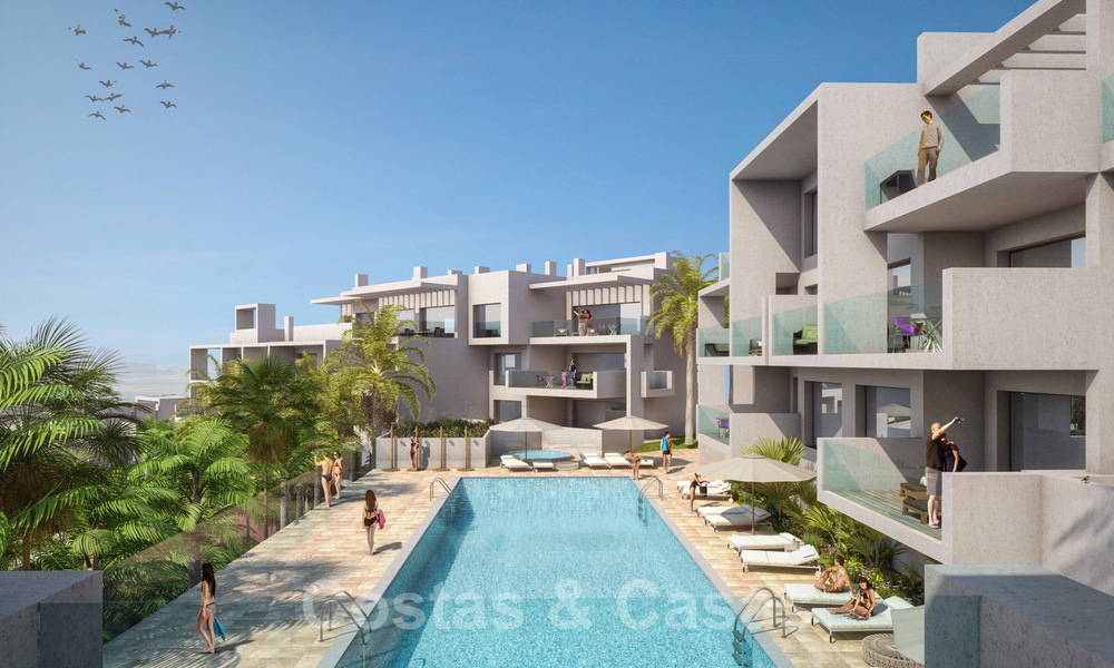 Quality, contemporary design apartments for sale with panoramic sea views in Estepona 24364