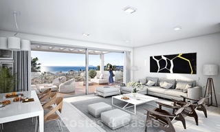 Quality, contemporary design apartments for sale with panoramic sea views in Estepona 24368