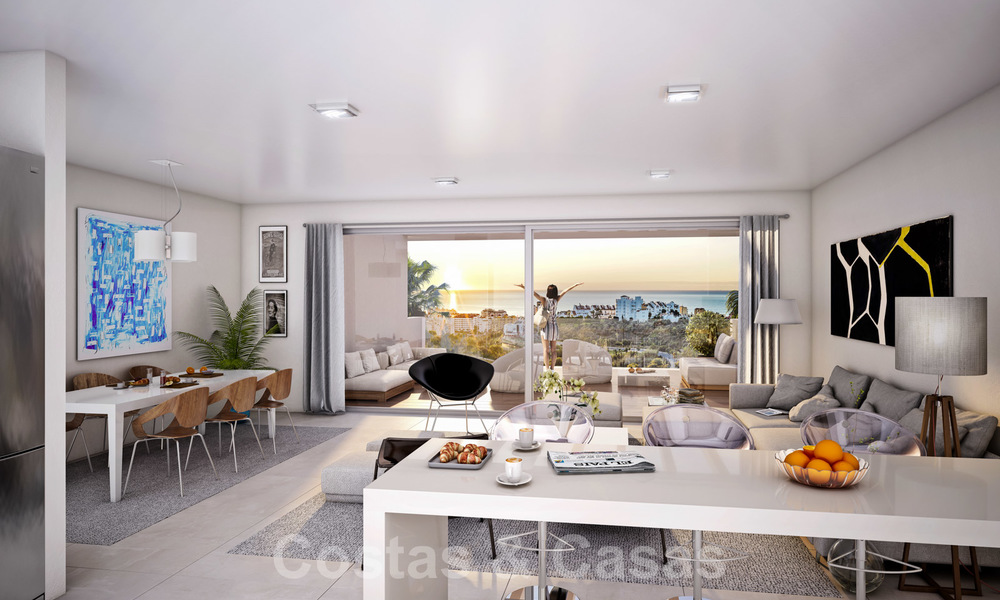 Quality, contemporary design apartments for sale with panoramic sea views in Estepona 24369