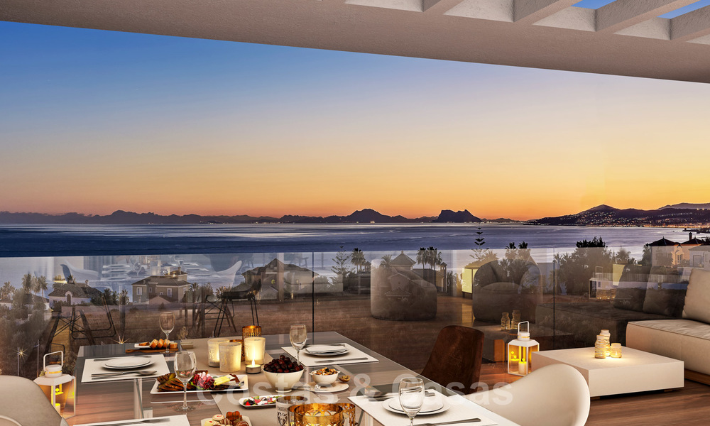Quality, contemporary design apartments for sale with panoramic sea views in Estepona 24370