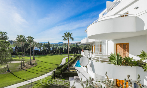 Elegant, renovated apartment for sale, directly on the golf course in Nueva Andalucia - Marbella 24332
