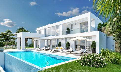 Modern new build villa with stunning mountain and sea views for sale in the hills of Eastern Marbella 24447