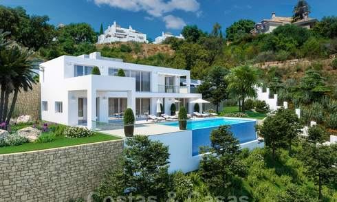 Modern new build villa with stunning mountain and sea views for sale in the hills of Eastern Marbella 24455
