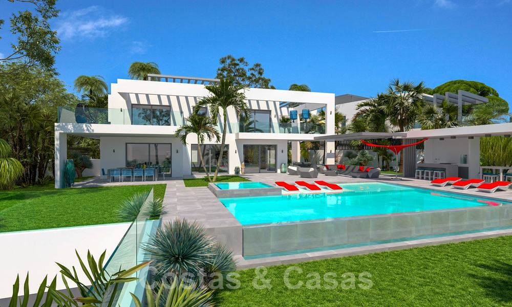 Exclusive, contemporary villa for sale with panoramic sea views, beachside in East Marbella 24591