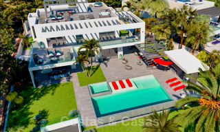 Exclusive, contemporary villa for sale with panoramic sea views, beachside in East Marbella 24595