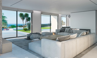 Exclusive, contemporary villa for sale with panoramic sea views, beachside in East Marbella 24598