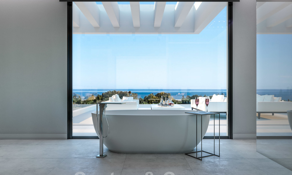 Exclusive, contemporary villa for sale with panoramic sea views, beachside in East Marbella 24605