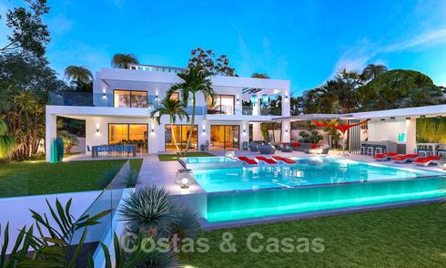 Exclusive, contemporary villa for sale with panoramic sea views, beachside in East Marbella 24607