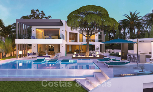 Unique, contemporary beachside villa for sale with amazing sea views in East Marbella 24744