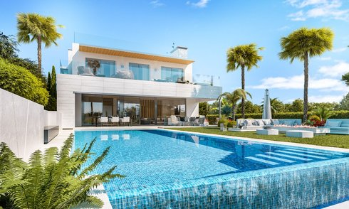 Modern ecological villa for sale with golf views in exclusive residential area near Golf Valley in Nueva Andalucia, Marbella 24960