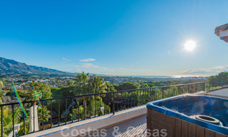 Large luxury villa for sale with stunning panoramic views over the golf valley, the mountains and the Mediterranean Sea in Nueva Andalucia, Marbella 24994