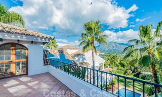 Large luxury villa for sale with stunning panoramic views over the golf valley, the mountains and the Mediterranean Sea in Nueva Andalucia, Marbella 24996
