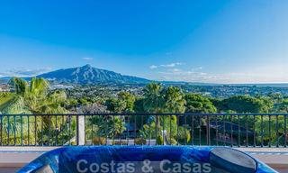 Large luxury villa for sale with stunning panoramic views over the golf valley, the mountains and the Mediterranean Sea in Nueva Andalucia, Marbella 24998