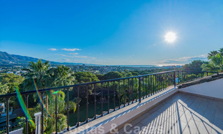 Large luxury villa for sale with stunning panoramic views over the golf valley, the mountains and the Mediterranean Sea in Nueva Andalucia, Marbella 24999