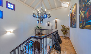Large luxury villa for sale with stunning panoramic views over the golf valley, the mountains and the Mediterranean Sea in Nueva Andalucia, Marbella 25010