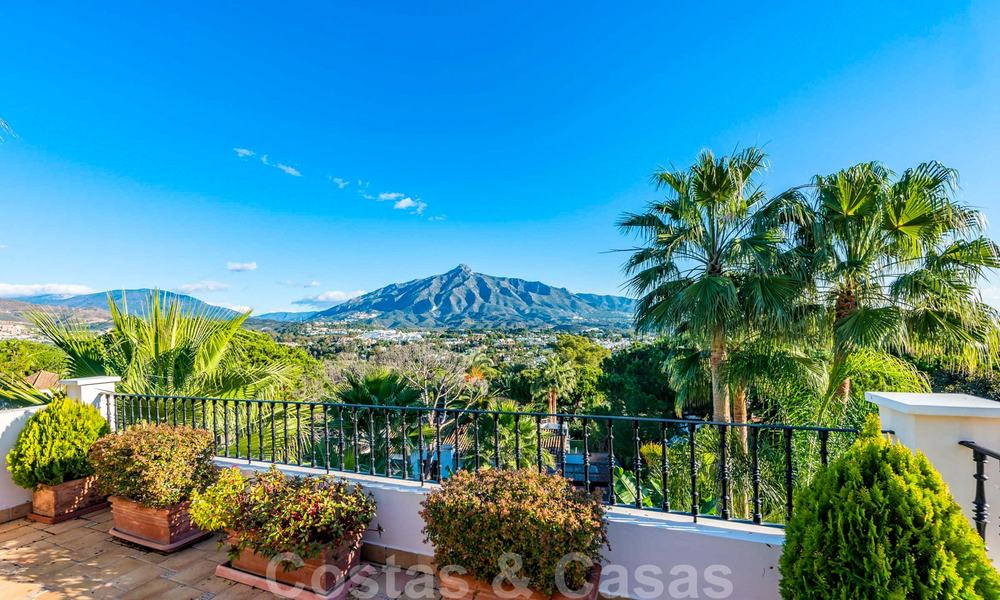 Large luxury villa for sale with stunning panoramic views over the golf valley, the mountains and the Mediterranean Sea in Nueva Andalucia, Marbella 25011