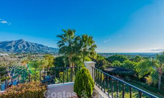 Large luxury villa for sale with stunning panoramic views over the golf valley, the mountains and the Mediterranean Sea in Nueva Andalucia, Marbella 25012