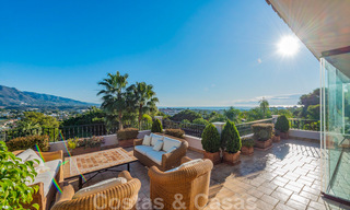Large luxury villa for sale with stunning panoramic views over the golf valley, the mountains and the Mediterranean Sea in Nueva Andalucia, Marbella 25013