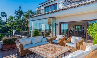 Large luxury villa for sale with stunning panoramic views over the golf valley, the mountains and the Mediterranean Sea in Nueva Andalucia, Marbella 25014
