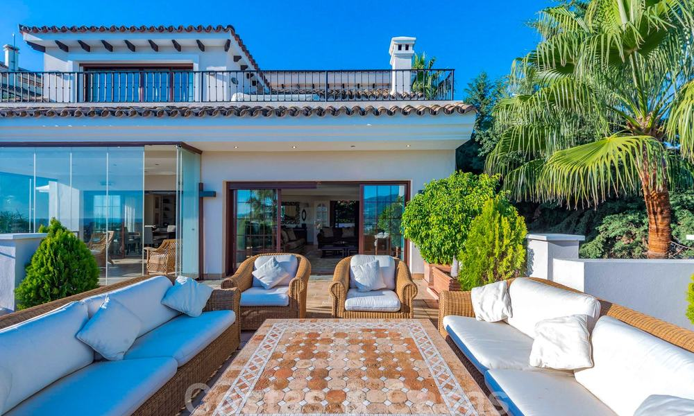 Large luxury villa for sale with stunning panoramic views over the golf valley, the mountains and the Mediterranean Sea in Nueva Andalucia, Marbella 25015