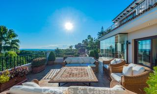 Large luxury villa for sale with stunning panoramic views over the golf valley, the mountains and the Mediterranean Sea in Nueva Andalucia, Marbella 25016