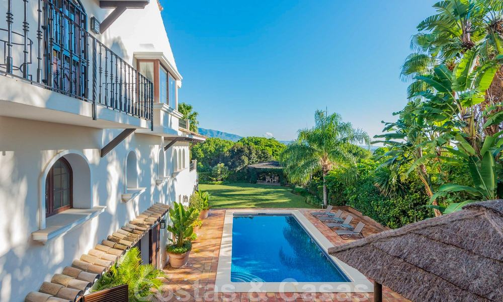 Large luxury villa for sale with stunning panoramic views over the golf valley, the mountains and the Mediterranean Sea in Nueva Andalucia, Marbella 25028