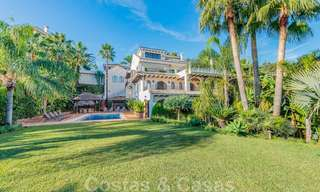 Large luxury villa for sale with stunning panoramic views over the golf valley, the mountains and the Mediterranean Sea in Nueva Andalucia, Marbella 25036