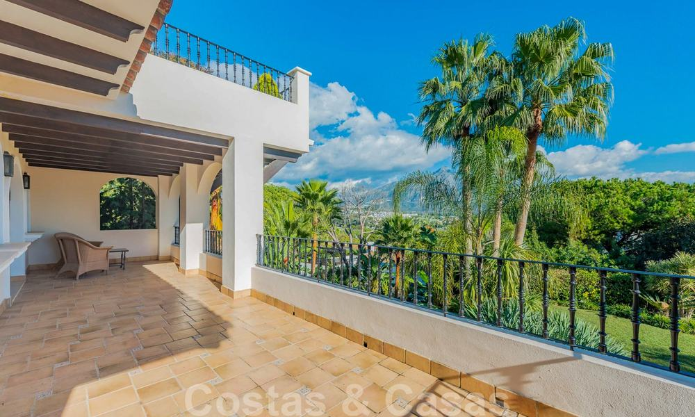 Large luxury villa for sale with stunning panoramic views over the golf valley, the mountains and the Mediterranean Sea in Nueva Andalucia, Marbella 25056