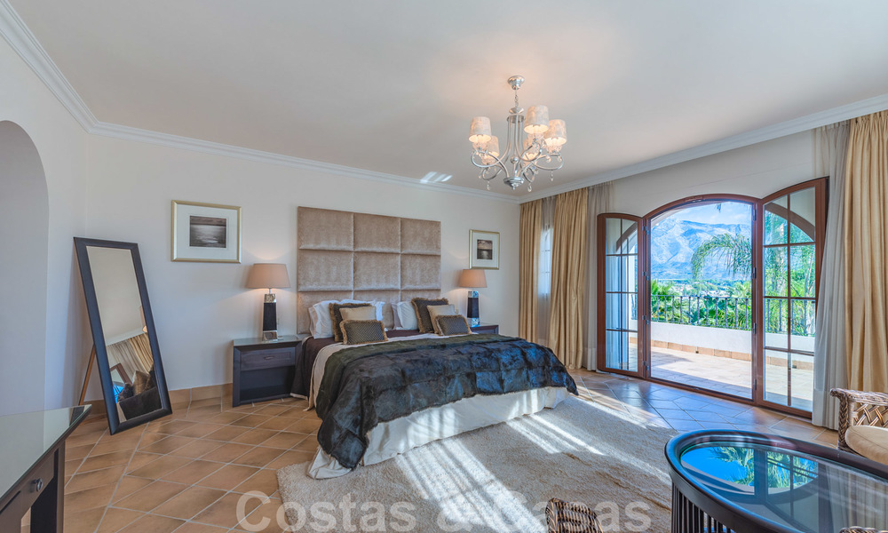 Large luxury villa for sale with stunning panoramic views over the golf valley, the mountains and the Mediterranean Sea in Nueva Andalucia, Marbella 25057