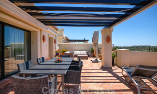 Spacious luxury apartments with a large terrace and panoramic views in a stylish complex surrounded by a golf course in Marbella - Benahavis 25170