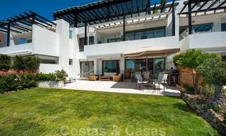 Modern front-line golf apartment with beautiful golf and sea views for sale in Los Flamingos Golf in Marbella - Benahavis 25124