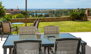 Modern front-line golf apartment with beautiful golf and sea views for sale in Los Flamingos Golf in Marbella - Benahavis 25129