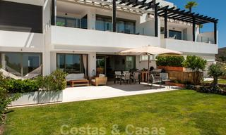 Modern front-line golf apartment with beautiful golf and sea views for sale in Los Flamingos Golf in Marbella - Benahavis 25136