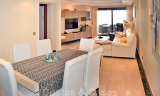 Modern apartment for sale in a first line beach complex with sea view, between Marbella and Estepona 25732