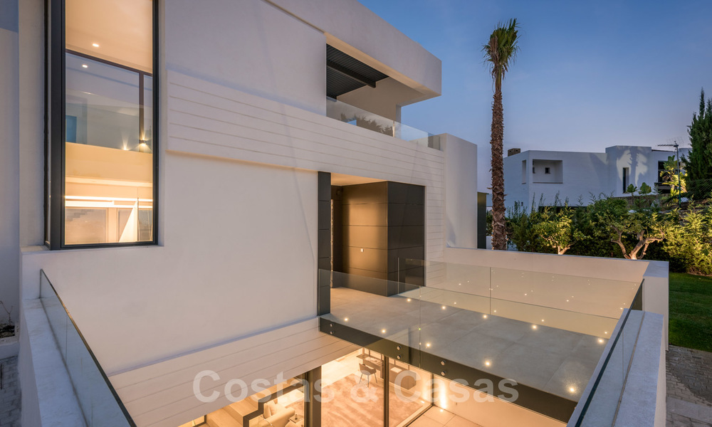 New impressive contemporary luxury villa for sale with stunning golf and sea views in Marbella - Benahavis 25787
