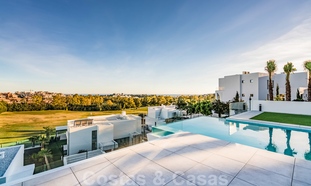 New impressive contemporary luxury villa for sale with stunning golf and sea views in Marbella - Benahavis 25788